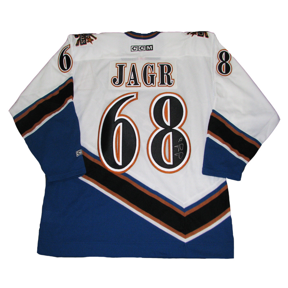 JAROMIR JAGR Signed Washington Capitals White CCM Jersey - NHL Auctions b57c5ea86ab