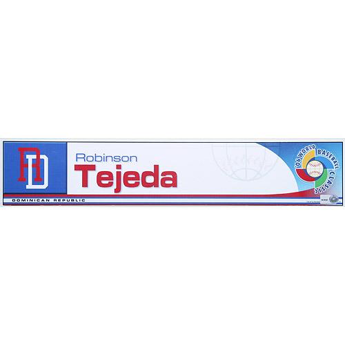 Photo of 2006 Inaugural World Baseball Classic: Robinson Tejada Locker Tag (DR) Game-Used Locker Name Plate