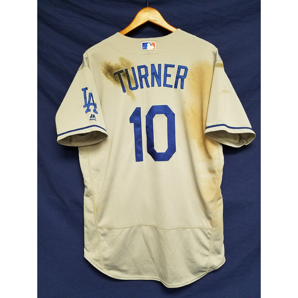 Justin Turner Game-Used Road Home Run Jersey   MLB Auctions