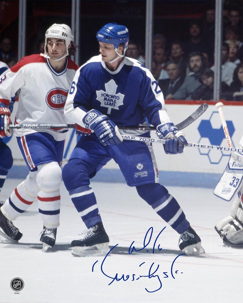 Mike Krushelnyski Signed 8x10 Unframed Leafs
