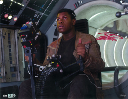 John Boyega as Finn 11x14 Autographed in Red Ink Photo