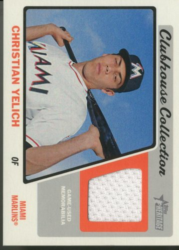 Photo of 2015 Topps Heritage Clubhouse Collection Relics  Christian Yelich