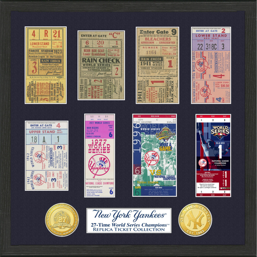 Photo of New York Yankees World Series Ticket Collection