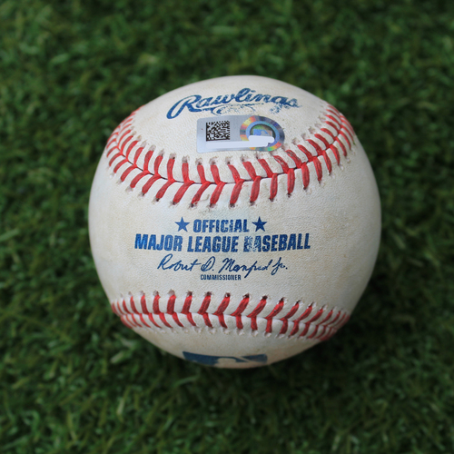 Photo of Game-Used Baseball: Tommy La Stella 237th Career Hit and 109th & 110th Career RBIs (LAA @ KC - 4/27/19)