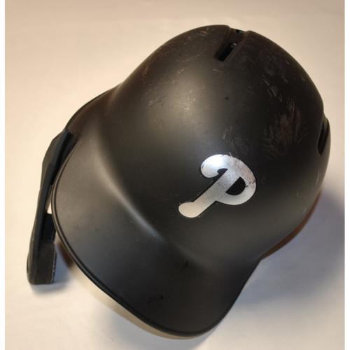 "Photo of Corey ""CD"" Dickerson Philadelphia Phillies Game-Used 2019 Players' Weekend Helmet"