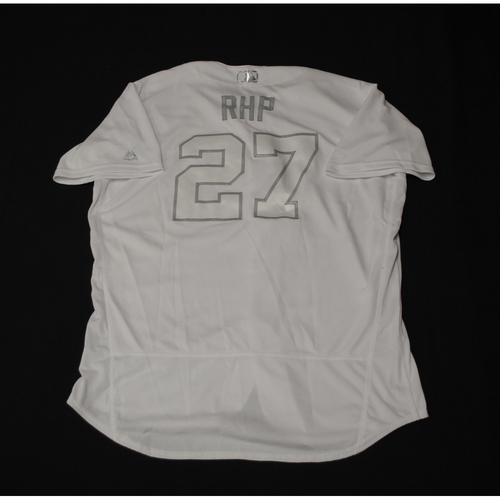 "Photo of Shawn ""RHP"" Kelley Texas Rangers Game-Used 2019 Players' Weekend Jersey"