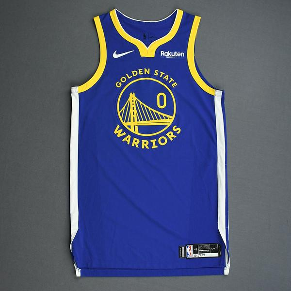 Image of D'Angelo Russell - Golden State Warriors - Game-Worn Icon Edition Jersey - 2019-20 Season
