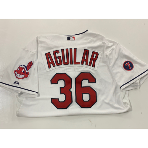 Photo of Jesus Aguilar Team Issued 2017 Home Jersey