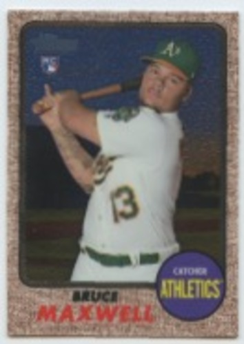 Photo of 2017 Topps Heritage Chrome #THC584 Bruce Maxwell