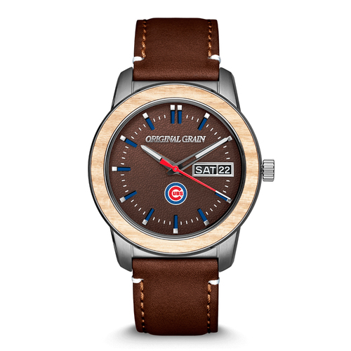 Photo of Rawlings Leather Chicago Cubs MLB Reclaimed 42mm Quartz