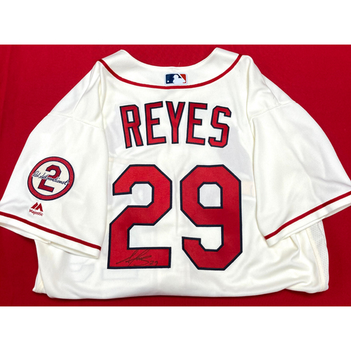 Photo of Alex Reyes Autographed Team-Issued Home Alternate Jersey w/ Red Patch (Size 48)