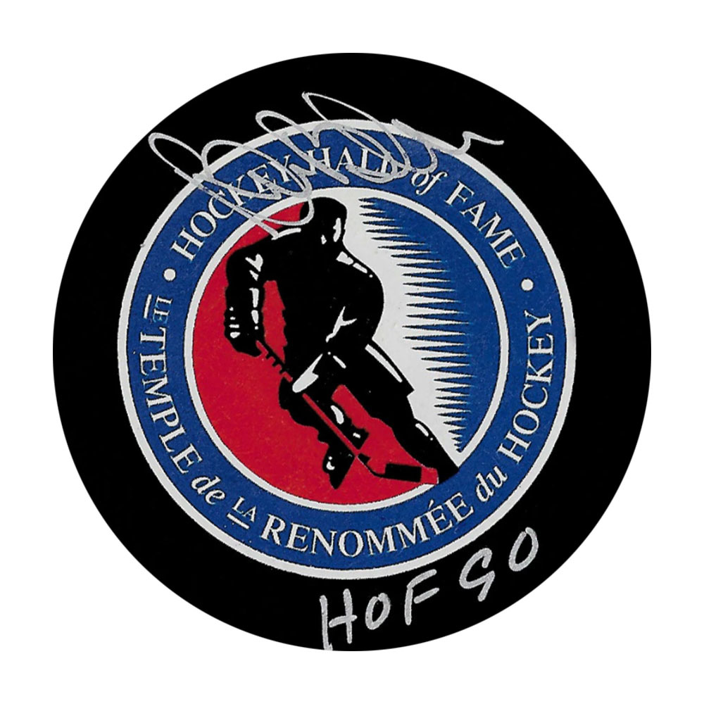 Bill Barber Autographed Hockey Hall of Fame Puck w/HOF Inscription