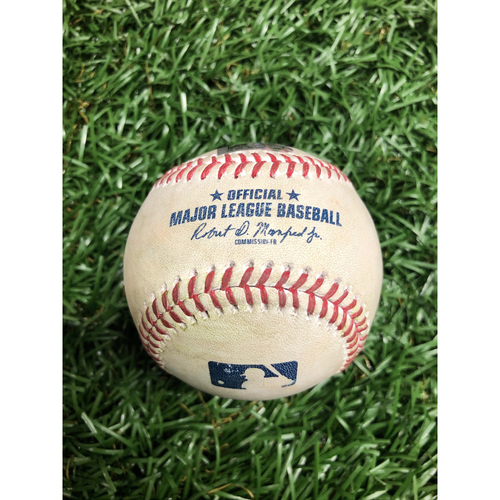 Photo of Spring Training Game Used Baseball: Randy Arozarena single (First Hit of 2021) off Kyle Wright - Bottom 1 - February 28, 2021 v ATL