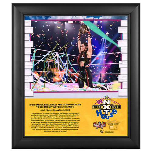 Photo of Io Shirai SIGNED NXT TakeOver: In Your House WrestleMania Gold Edition Plaque (#1 of 1)