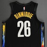 Spencer Dinwiddie - Brooklyn Nets - Game-Worn City Edition Jersey - 2020-21 NBA Season