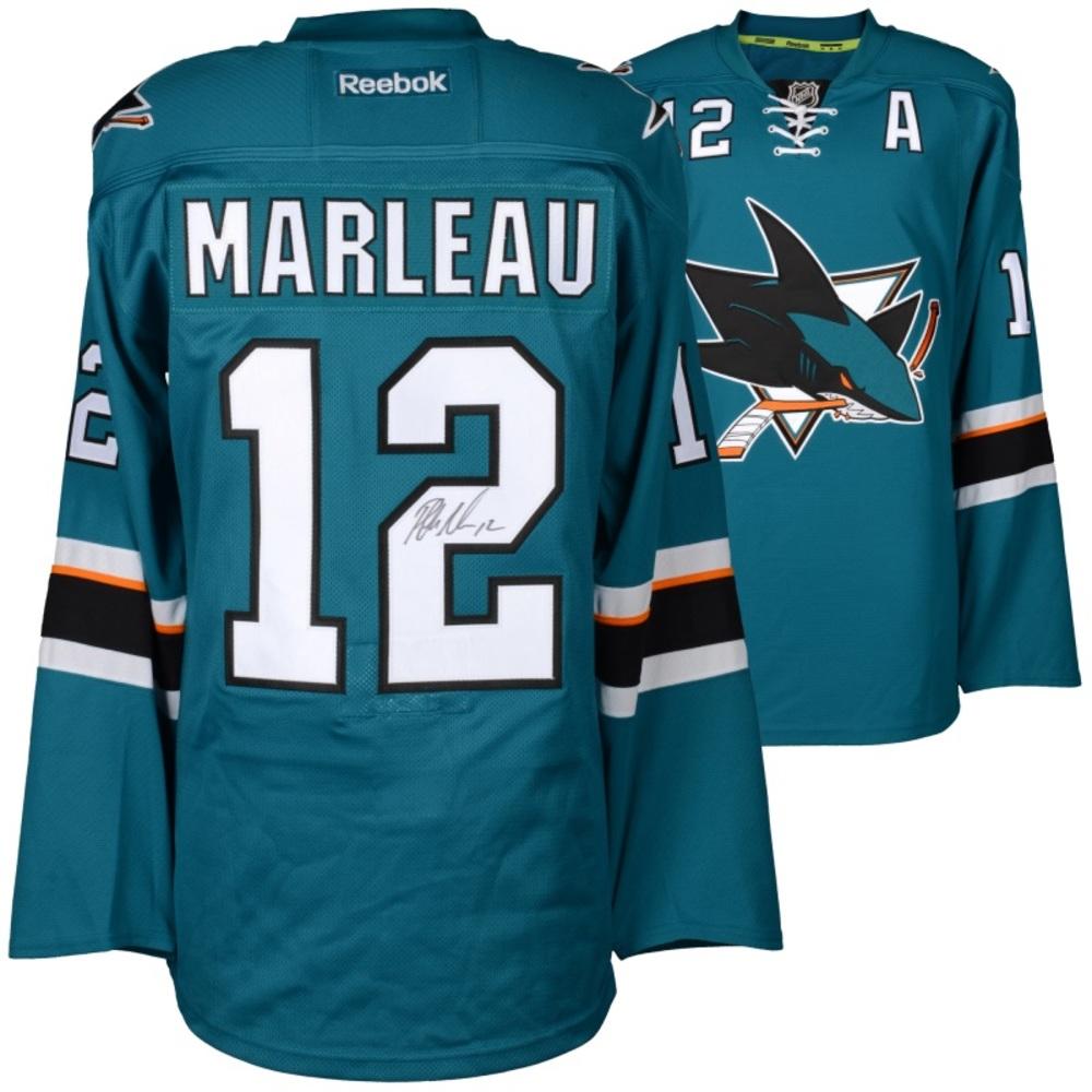 Patrick Marleau San Jose Sharks Autographed Teal Reebok EDGE Jersey