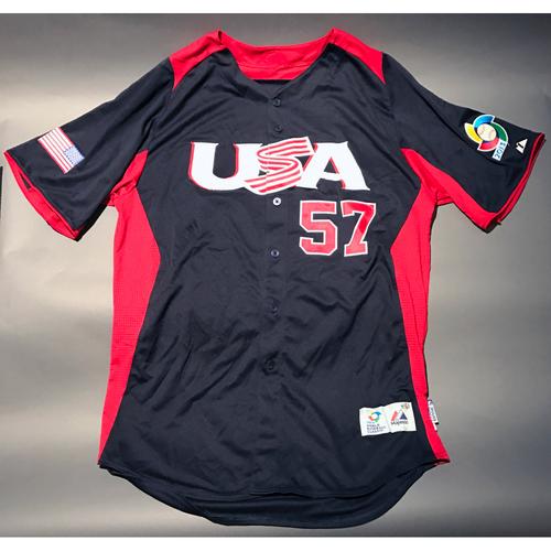 2013 World Baseball Classic Jersey - USA Jersey, Luke Gregerson #57