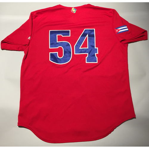 2017 WBC: Cuba Game-Used Batting Practice Jersey, #54