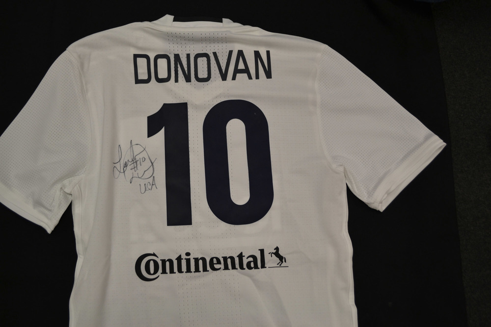 9468383d592 Landon Donovan Match-Worn and Autographed Kick In For Houston Jersey ...