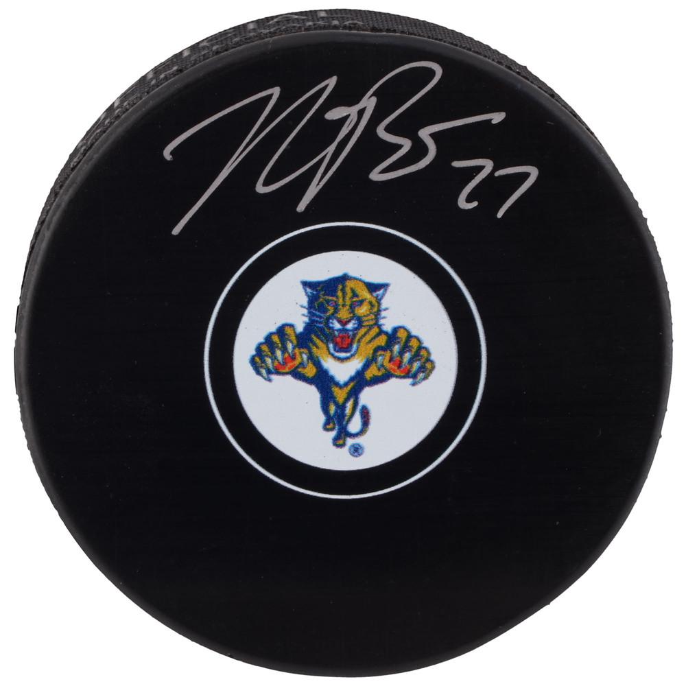 Nick Bjugstad Florida Panthers Autographed Hockey Puck