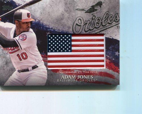 Photo of 2018 Topps Independence Day U.S. Flag Relics #IDMLAA Adam Jones