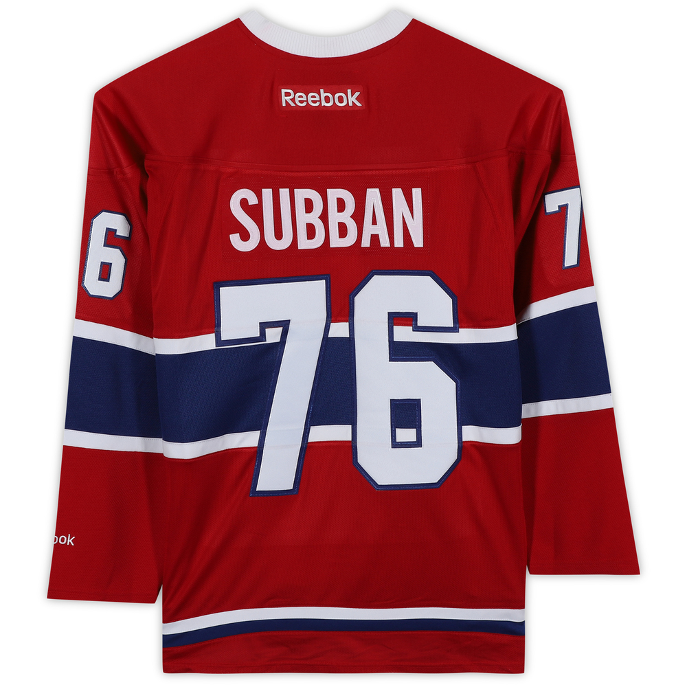 P.K. Subban Montreal Canadiens Unsigned Red Reebok Premier Jersey