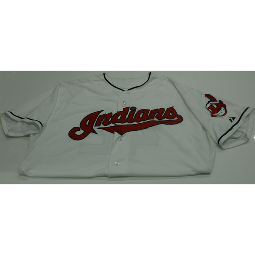 Photo of Cleveland Indians Lonnie Chisenhall 2013 Game Used Jersey - 4/16/13 vs. Red Sox