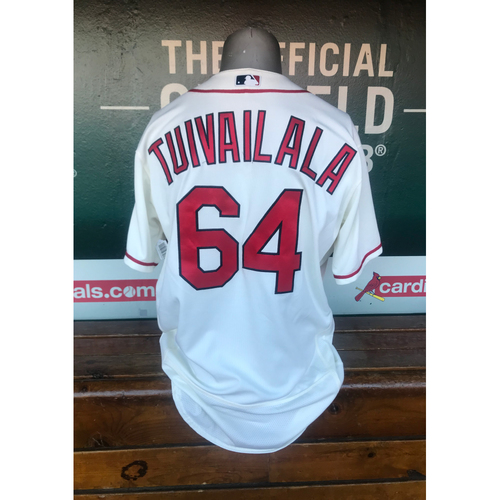 Photo of Cardinals Authentics: Game Worn Sam Tuivailala Saturday Alternate Ivory Jersey