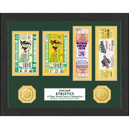 Photo of Oakland Athletics World Series Ticket Collection