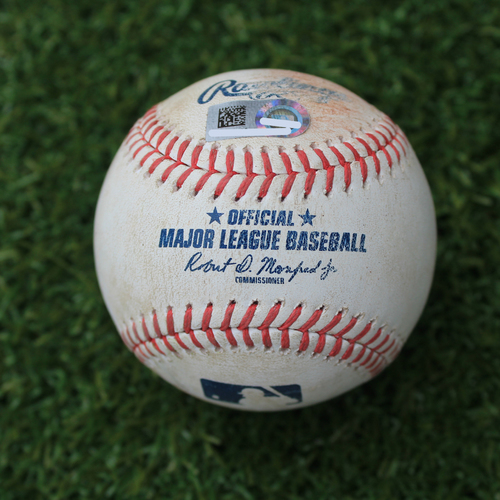Photo of Game-Used Baseball: Omar Narvaez 184th Career Hit and Dylan Moore 3rd Career Hit (SEA @ KC - 4/8/19)