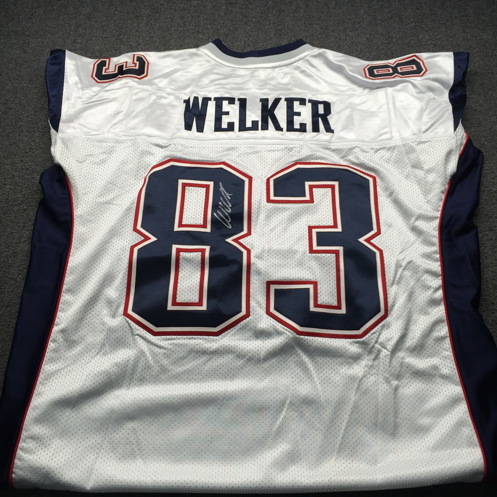 Patriots - Wes Welker Signed Authentic Jersey Size 54