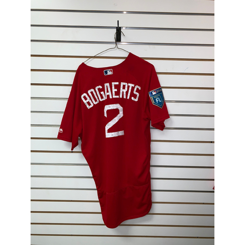 Photo of Xander Bogaerts Team Issued 2018 Spring Training Jersey