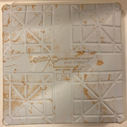 Photo of 2019 NLDS Game Used Base - Second Base Used During 2nd Inning - 10/4/19