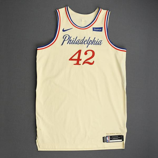 Image of Al Horford - Philadelphia 76ers - Christmas Day' 19 - Game-Worn City Edition Jersey - Double-Double