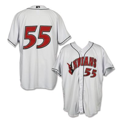 #55 Game Worn Home White Jersey