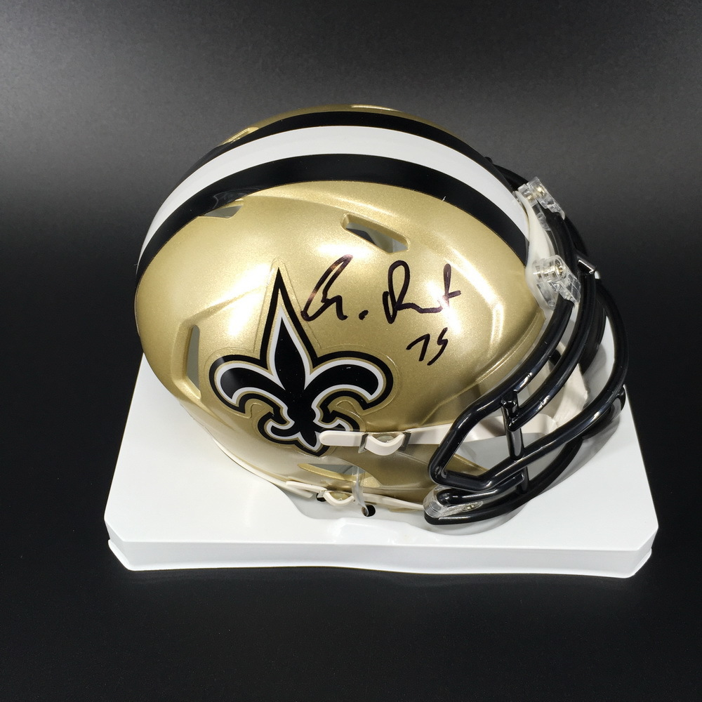 NFL - Saints Andrus Peat Signed Mini Helmet