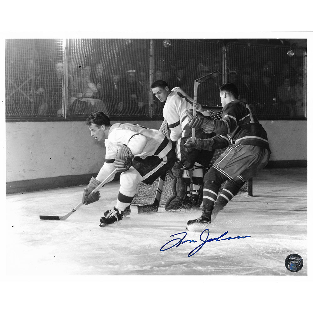 Tom Johnson Autographed Montreal Canadiens 8X10 w/Gordie Howe