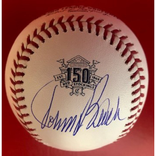 Photo of Johnny Bench Autographed 150th Anniversary Baseball