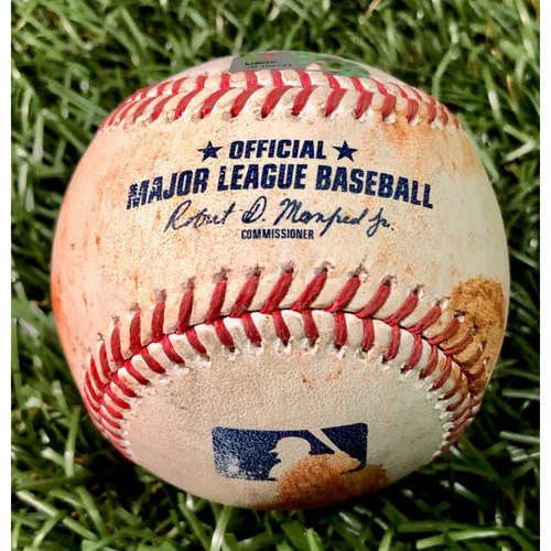 Photo of Game Used Baseball: Michael Brosseau single off Tommy Milone - August 25, 2020 v BAL