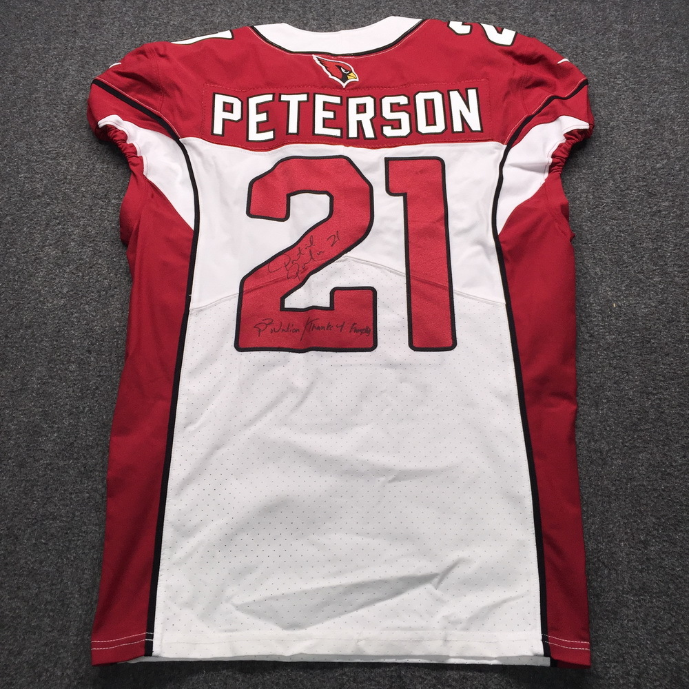 NFL Auction | STS - Cardinals Patrick Peterson Signed Game Issued ...