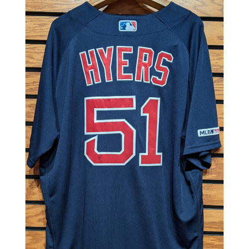 Photo of Tim Hyers #51 Team Issued Navy Road Alternate Jersey