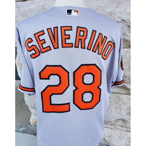 Photo of Pedro Severino: Jersey - Game Used (9/29/19 vs. Red Sox)