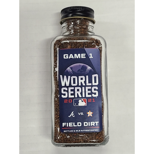Photo of PRESALE - Game-Used Dirt Jar - 2021 World Series - Atlanta Braves vs. Houston Astros - Game 1