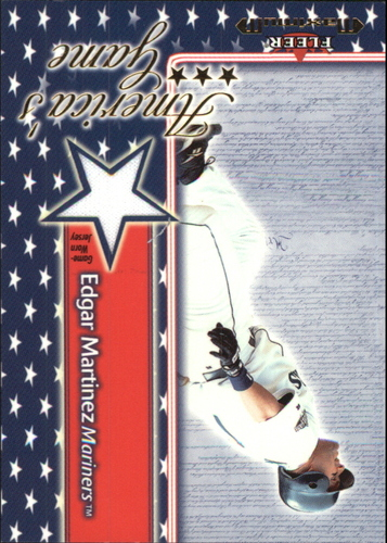 Photo of 2002 Fleer Maximum Americas Game Jersey #14 Edgar Martinez