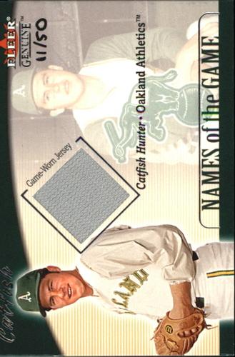 Photo of 2001 Fleer Genuine Names Of The Game #11 Catfish Hunter Jsy