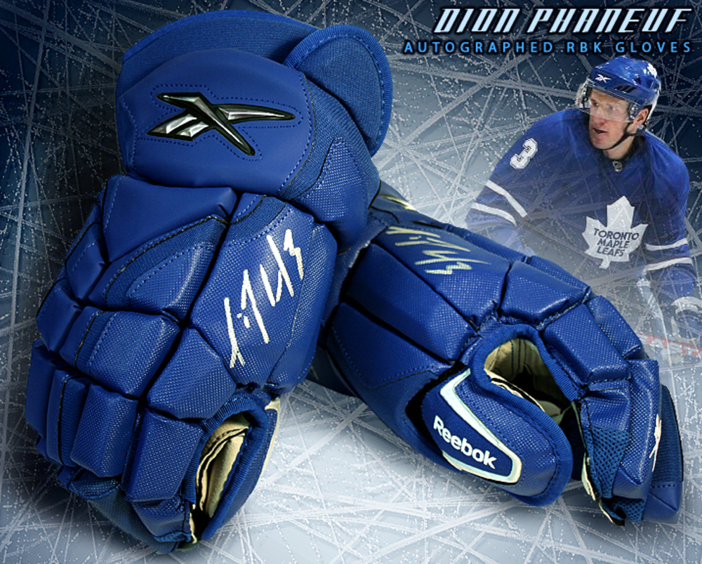 DION PHANEUF Signed Toronto Maple Leafs Player Model RBK Gloves