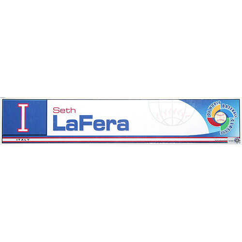 Photo of 2006 Inaugural World Baseball Classic: Seth LaFera Locker Tag (ITA) Game-Used Locker Name Plate