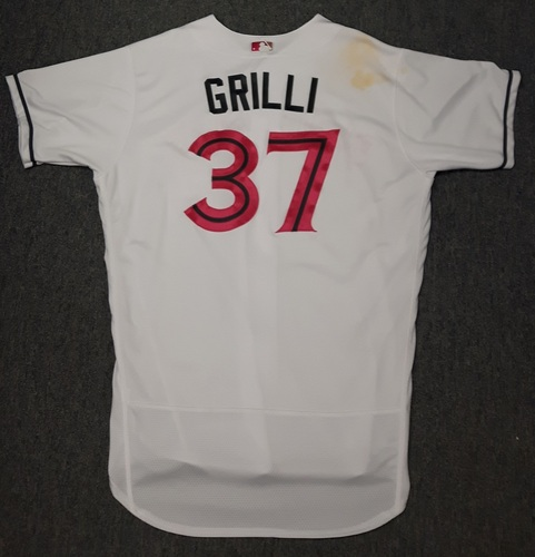 Photo of Authenticated Game Used Mother's Day Jersey (May 14, 2017) - #37 Jason Grilli. Size 50