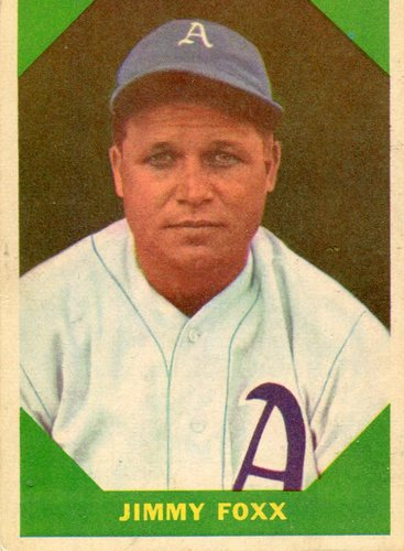 Photo of 1960 Fleer #53 Jimmie Foxx -- Hall of Fame Class of 1951