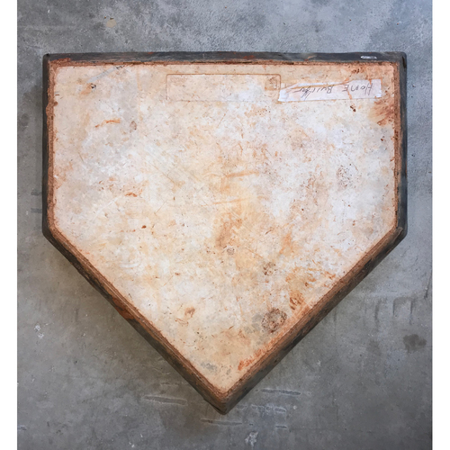 Photo of 2017 World Series Game-Used Home Plate from the Astros Bullpen